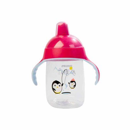 accesorios-para-bebes-avent-taza-spout-premiun-rosado-12oz