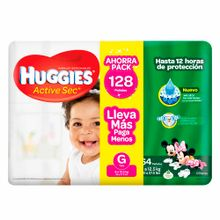 panal-para-bebe-huggies-ahorropack-active-sec-talla-g-paquete-128un