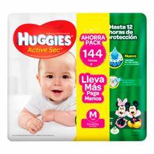 panal-para-bebe-huggies-ahorropack-active-sec-talla-m-paquete-144un