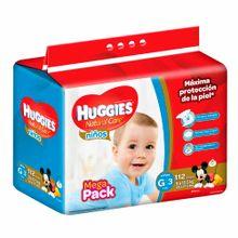 panal-para-bebe-huggies-megapack-natural-care-ninos-talla-g-paquete-112un