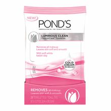 toallas-desmaquillantes-ponds-luminous-clean-paquete-28un