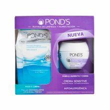 toallitas-desmaquillantes-ponds-bolsa-15un-crema-ponds-sensitive-pote-50g