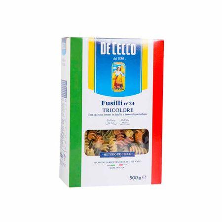 fideo-fusilli-de-cecco-tricolor-bolsa-500g