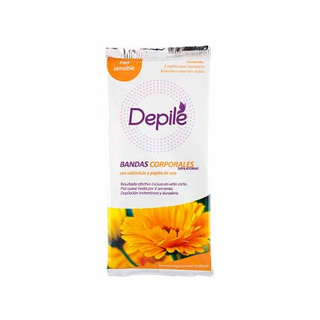 bandas-depilatorias-corporales-depile-calendula-y-pepita-de-uva-piel-sensible-paquete-6un