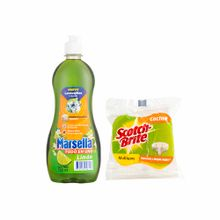 lavavajilla-liquido-marsella-frasco-590ml-esponja-scotch-brite