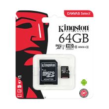 memoria-micro-sd-kingston-64gb-c10