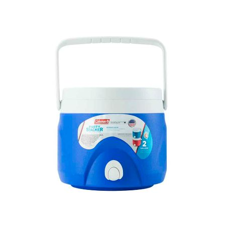 cooler-coleman-party-stacker-para-liquido-2-gal-azul