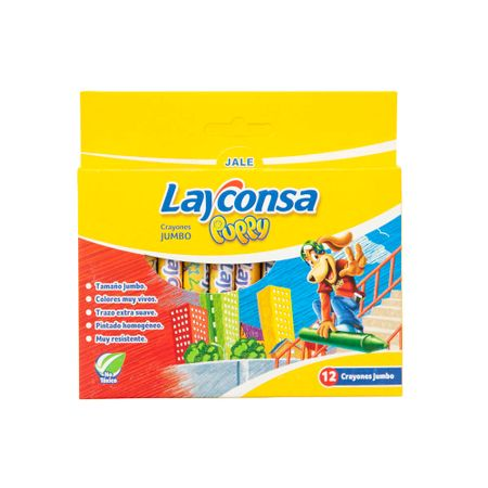 Crayón Layconsa Puppy Jumbo Paquete 12un Supermercado