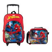 set-spiderman-mochila-con-rueda-lonchera