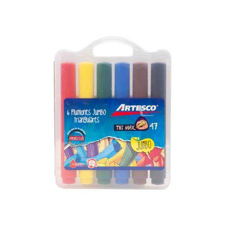 plumones-artesco-trimax-45-jumbo-caja-plastica-6un