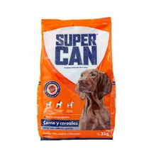 comida-para-perros-supercan-adultos-razas-medianas-y-grandes-sabor-carne-y-cereal-bolsa-3kg