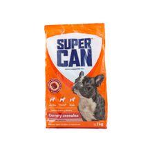 comida-para-perros-supercan-adultos-razas-pequenas-sabor-carne-y-cereal-bolsa-1kg