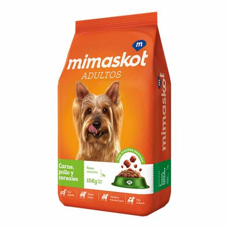 comida-para-perros-mimaskot-Adultos-razas-pequenas-croquetas-sabor-a-carne-bolsa-15kg
