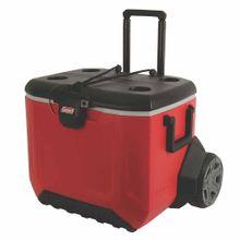 cooler-coleman-55qt-rojo-negro-gris
