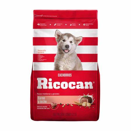 comida-para-perros-ricocan-cachorros-razas-medianas-y-grandes-carne-y-leche-bolsa-1kg