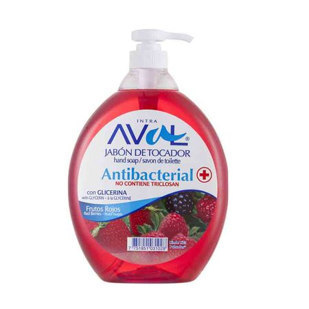 jabon-liquido-aval-antibacterial-frutos-rojos-frasco-800ml