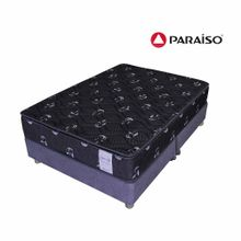 conjunto-box-tarima-paraiso-superstar-one-side-negro-queen-2-almohadas-protector