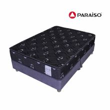 conjunto-box-tarima-paraiso-superstar-one-side-negro-king-2-almohadas-protector