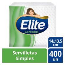 Servilletas Elite Cortadas Simples Paquete 400...