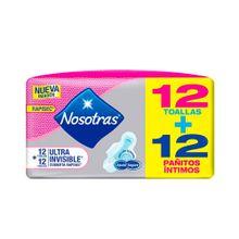 toalla-higienica-nosotras-ultrainvisible-rapise-paquete-12un-panitos-humedos-nosotras-natural-paquete-12un