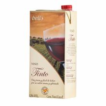 Vino Bell'S Tinto Borgoña Seco Caja 1L