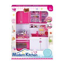 set-de-cocina-moderna-qun-feng-toys-17-piezas