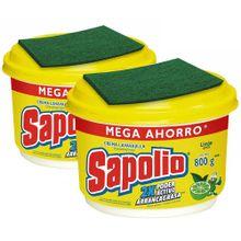 pack-lavavajillas-sapolio-limon-pote-800g-2un