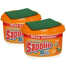 pack-lavavajillas-sapolio-naranja-pote-800g-2un
