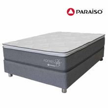 conjunto-box-tarima-paraiso-pocket-star-one-side-2-plazas-2-almohadas-1-almohada-viscoelastica-protector