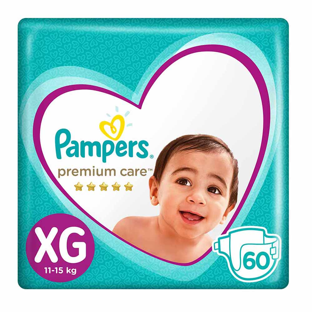 Panales pampers premium care talla xg