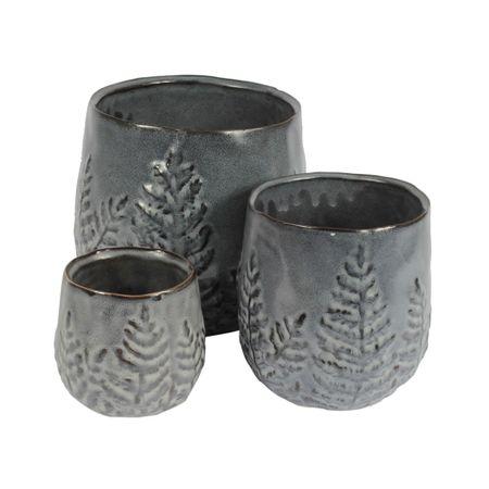 Set x 3 macetas gris oscuro