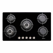 cocina-empotrable-klimatic-glassy-plus-5-quemadores-negro