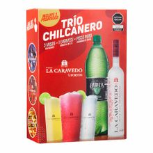 pack-la-caravedo-trio-chilcanero-pisco-quebranta-botella-700ml--ginger-ale-evervess-botella-1.5l--3-vasos