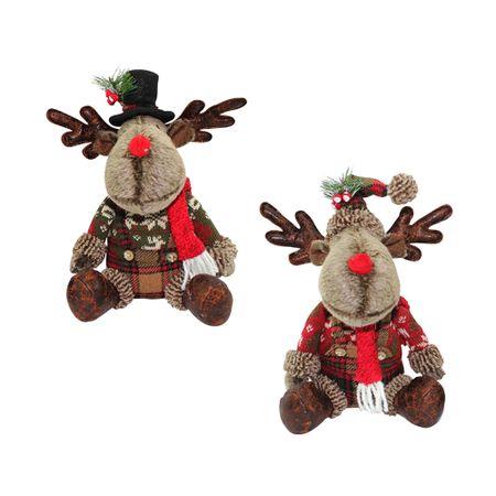 2 servilletas riente Santa Claus y reno