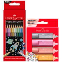 pack-faber-castell-lapiz-color-metalico-hexagon-est-paquete-10un-resaltadores-metalicos-caja-4un