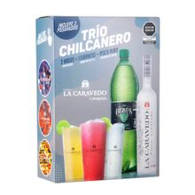 pack-la-caravedo-trio-chilcanero-pisco-acholado-botella-700ml-ginger-ale-evervess-botella-1-5l-3-vasos
