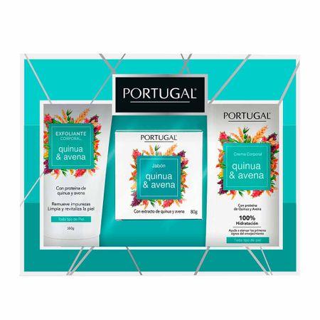estuche-portugal-quinua-y-avena-crema-exfoliante-tubo-160g-jabon-empaque-80g-crema-corporal-frasco-250g-caja-3un