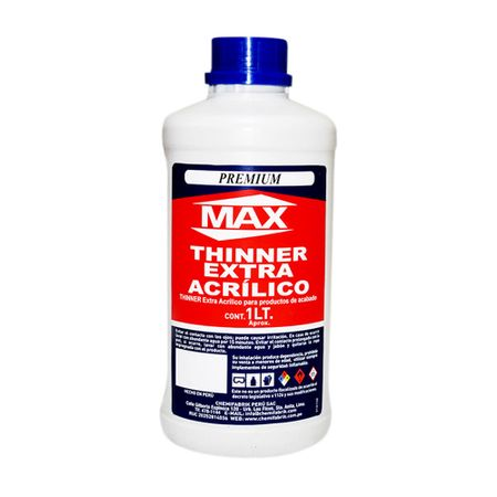 Max Thinner extra acrílico 1 litro