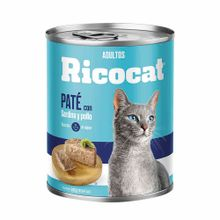 comida-para-gatos-ricocat-adultos-pate-sardina-y-pollo-lata-330g