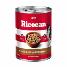 comida-para-perros-ricocan-adultos-carne-y-verduras-en-trocitos-280g