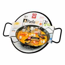 paella-kit-carmencita-255g-paellero-esmaltado-paquete-2un
