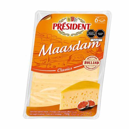 queso-maasdam-president-classics-cheese-paquete-150g