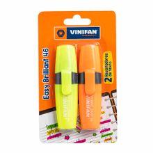 resaltador-vinifan-easy-brillant-46-naranja-amarillo-blister-2un