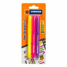 resaltador-vinifan-easy-brillant-47-amarillo-rosa-morado-blister-3un