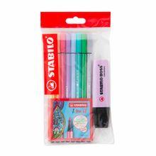 pack-stabilo-plumones-pen-68-paquete-8un-resaltador-pastel