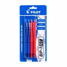 boligrafos-pilot-bp1rt-0-7mm-azul-rojo-blister-4un