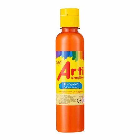 tempera-arti-creativo-naranja-frasco-250ml