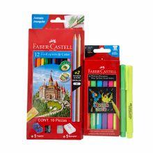pack-faber-castell-colores-caja-12un-plumones-neon-caja-6un