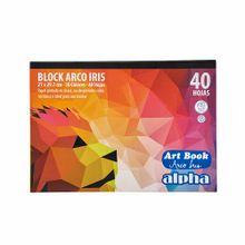 block-alpha-arco-iris-40-hojas