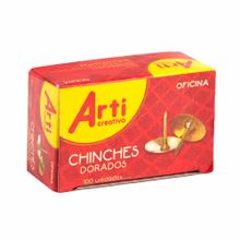 chinches-arti-creativo-dorados-caja-100un